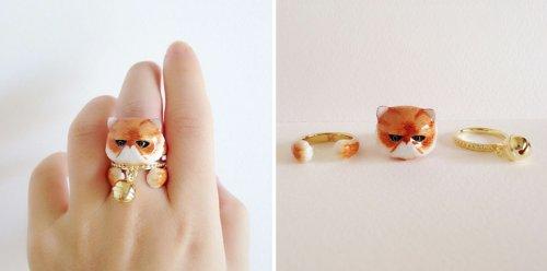 Оригинальные кольца-конструкторы в виде животных от Мэри Лу (18 фото)