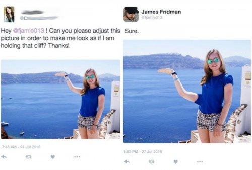 Фотошоп-троллинг от Джеймса Фридмана (24 фото)
