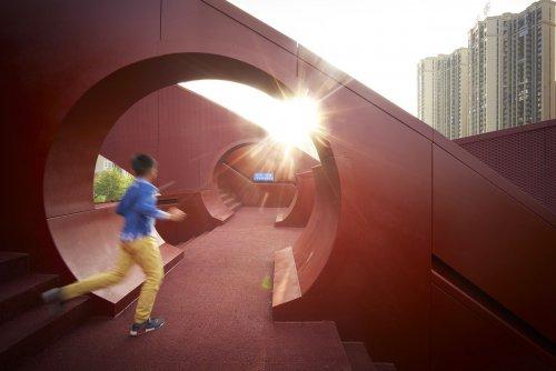 """Необычный мост """"Счастливый узел"""" в китайском городе Чанша (8 фото)"""