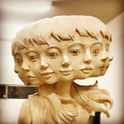 Скульптуры Йоситоси Канемаки, созданные в стиле глитч-арта (9 фото)