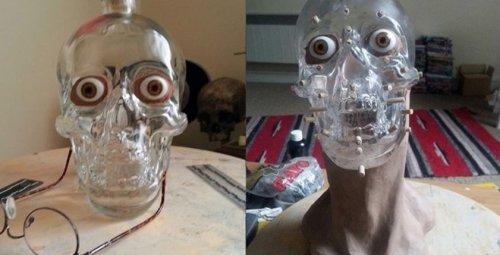 """Судебно-медицинский эксперт """"вернул к жизни"""" бутылку в виде черепа (6 фото)"""