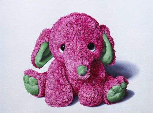 Плюшевые игрушки, изображённые на картинах, выглядят невероятно реалистично (12 фото)