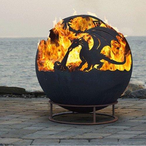 """Креативные чаши для огня, или """"уличные камины"""" (17 фото)"""