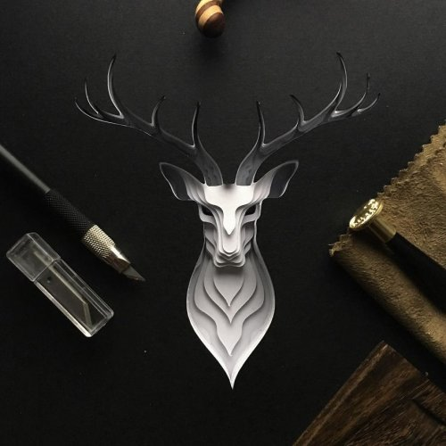 Искусные портреты животных, вырезанные из бумаги (5 фото)