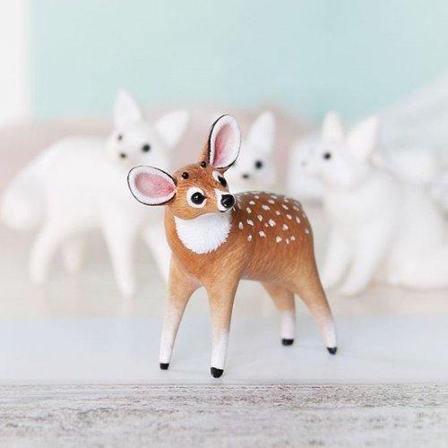Крошечные скульптуры животных из полимерной глины (26 фото)