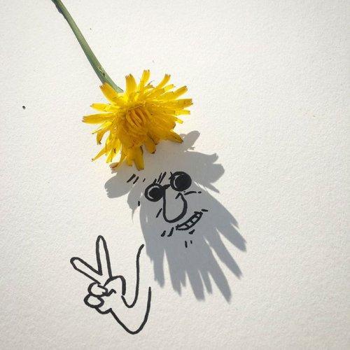 Забавные иллюстрации Винсента Баля, созданные с помощью теней от повседневных предметов (30 фото)