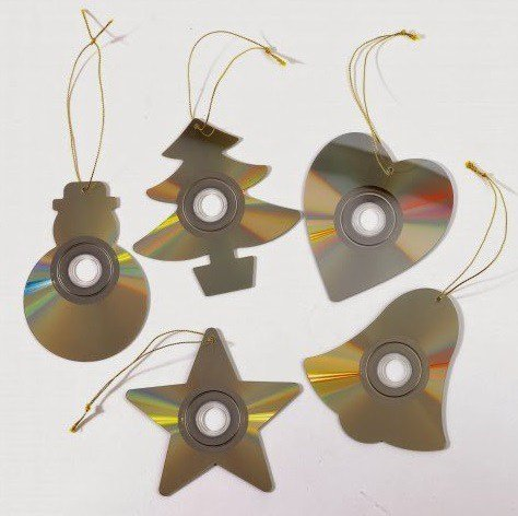 Креативные ёлочные игрушки из подручных средств (10 фото)