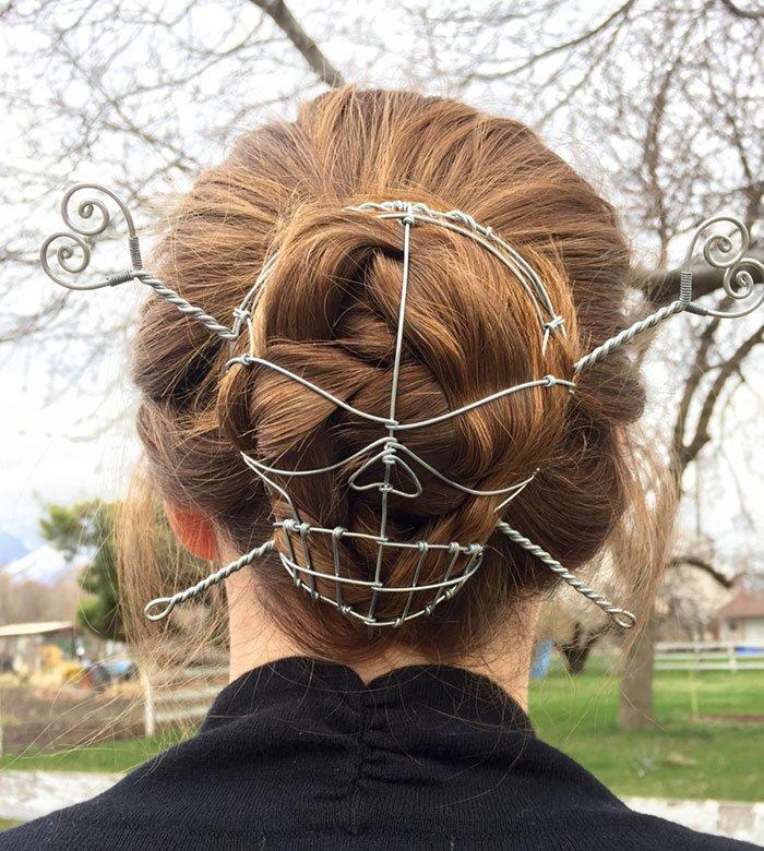 6965a24613ea Оригинальная заколка для волос из проволоки (2 фото)