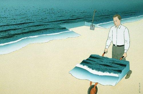 Сюрреалистические иллюстрации Ги Биллю, переворачивающие сознание (32 шт)