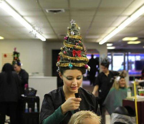 Креативные причёски на новый год (10 фото)