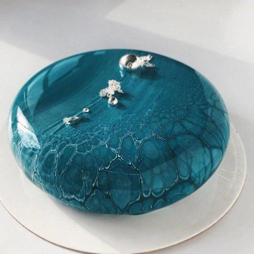 Зеркальные торты-муссы от Ксении Пенкиной (10 фото)