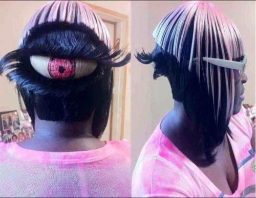 Необычные и причудливые причёски и стрижки (16 фото)