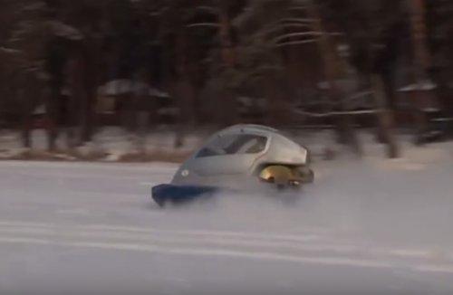 Необычные зимние транспортные средства (7 фото)