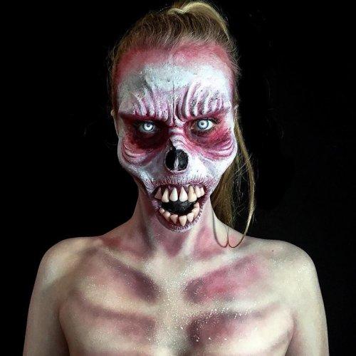 Хоррор-образы самоучки-визажиста Лары Уирс (28 фото)