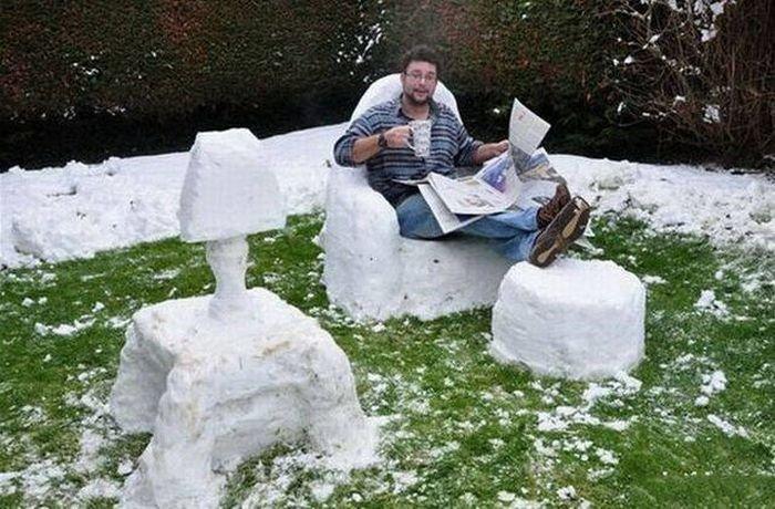 Снег летом смешные картинки