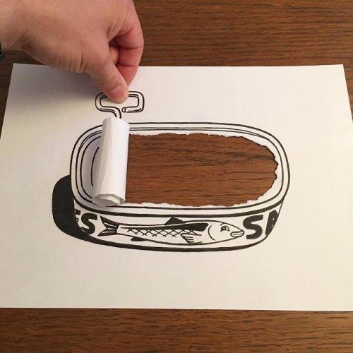 Креативные рисунки художника HuskMitNavn (30 фото)