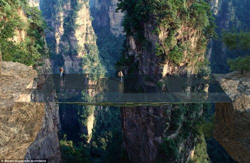 """В Китае планируют построить мост, """"растворяющийся"""" в пространстве (5 фото)"""