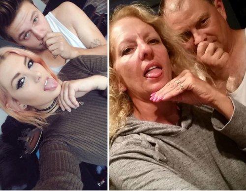 Родители с чувством юмора, пародирующие селфи своих детей (16 фото)