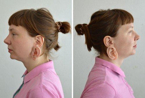 Эти жуткие сережки выглядят как второе ухо, и к ним в комплекте идет дополнительное кольцо-палец