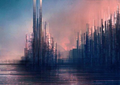 Геометрические городские пейзажи иллюстратора Скотта Уминга (20 фото)