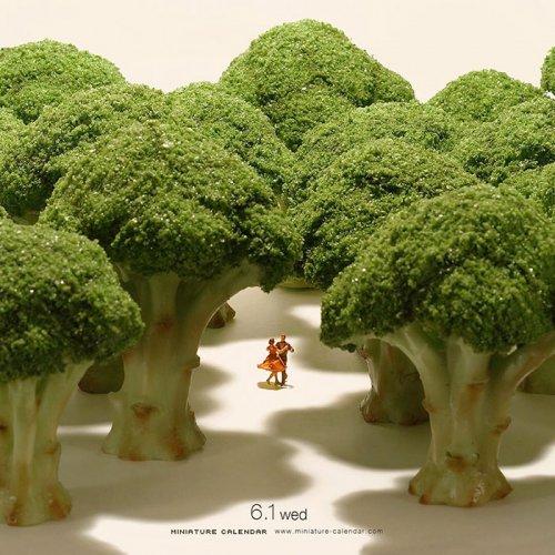 Миниатюрные диорамы японского художника Танаки Тацуя (30 фото)