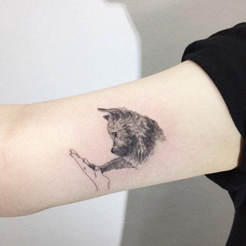 Классные татуировки с собаками (35 фото)