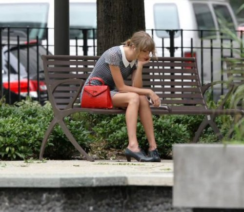 Тейлор Свифт на скамейке и фотожабы на неё (23 шт)