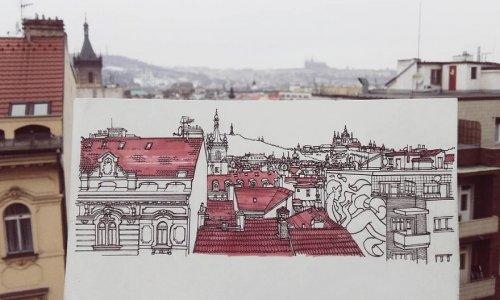 Путешествуя по Европе, художник рисует города, которые посещает (19 фото)