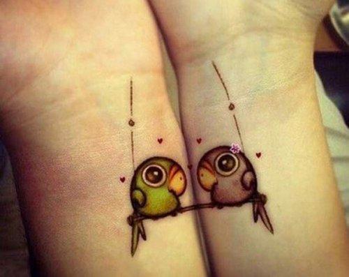 Парные татуировки для возлюбленных (24 фото)