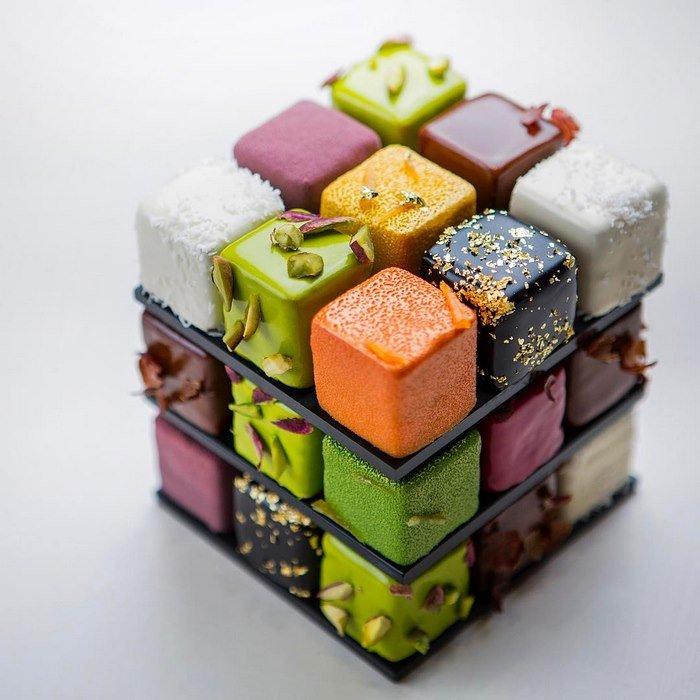 Торт Кубик Рубика, МК - У самовара - Украшение тортов 11