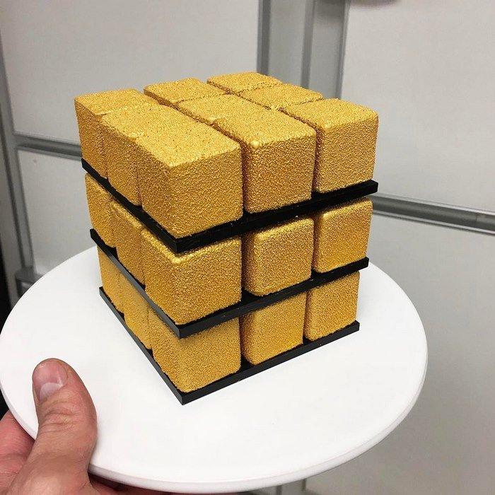 Торт Кубик Рубика, МК - У самовара - Украшение тортов 30