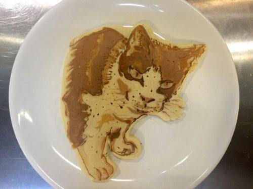 Художественные блины с изображениями животных от шеф-повара Кеисуке Инагаки (17 фото)