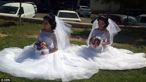 Сёстры-близнецы вышли замуж за братьев-близнецов, и сейчас обе беременны (8 фото)