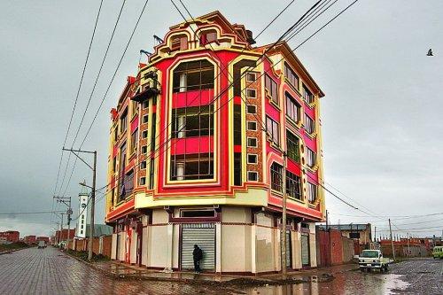 Необычные красочные дома города Эль-Альто (12 фото)