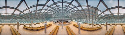 Панорамные снимки библиотек Томаса Шиффа (10 фото)