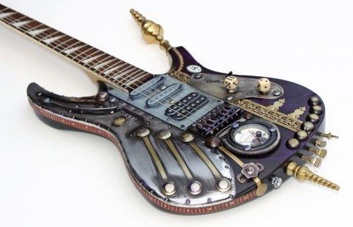 Необычные музыкальные инструменты, изготовленные в стиле стимпанк (24 фото)