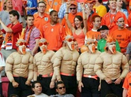 Сумасшедшие спортивные болельщики (16 фото)