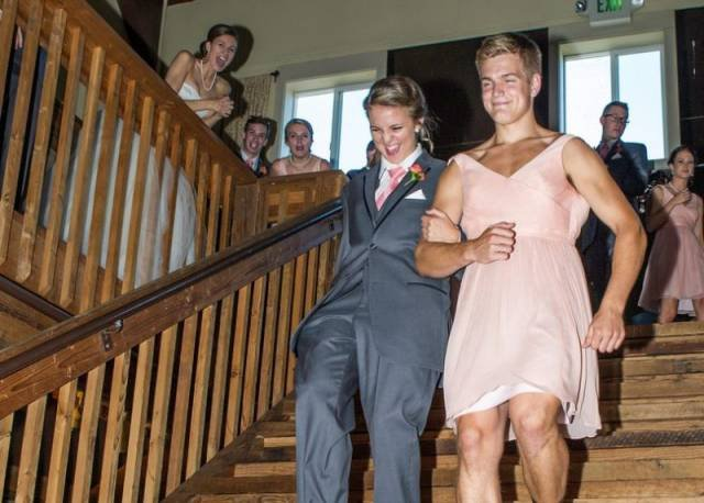 Прикольные свадебные фотографии молодоженов