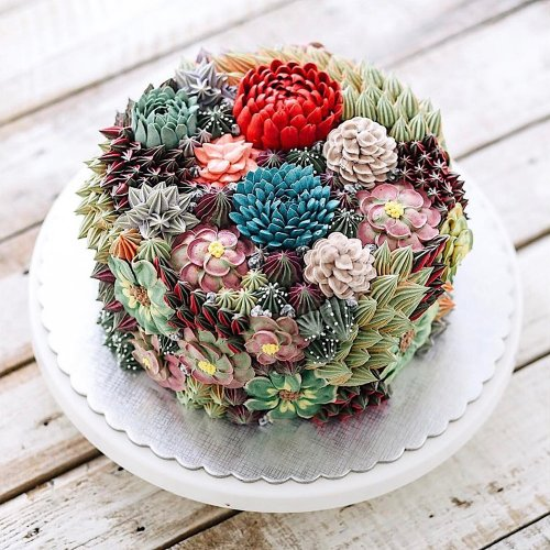 Потрясающе реалистичные цветочные торты от Ивен Кави (16 фото)