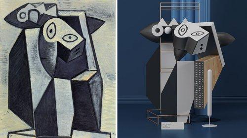 Картины Пабло Пикасо, изображённые в виде скульптур (7 фото)