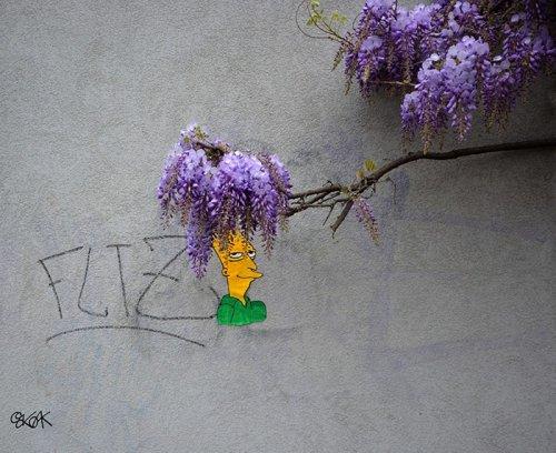 Когда стрит-арт взаимодействует с природой (29 фото)