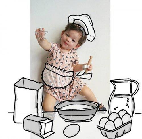 Креативная мама превращает фотографии дочери в невероятные истории (25 фото)