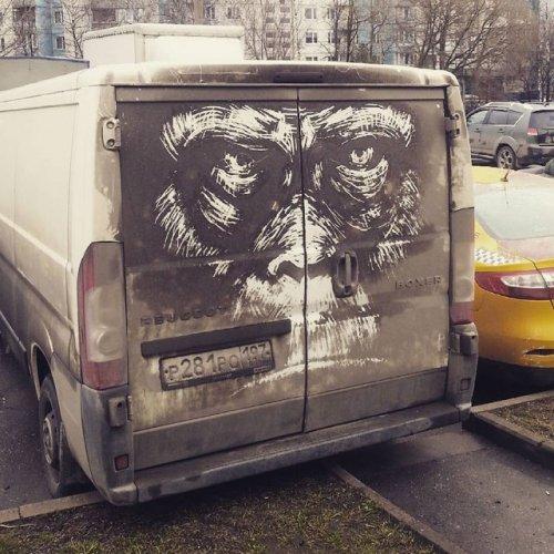Когда грязные автомобили превращаются в произведения искусства (9 фото)