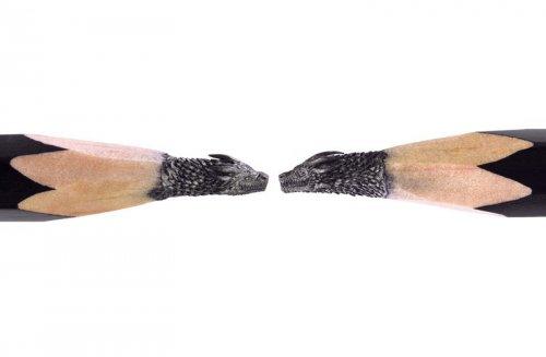 """Скульптуры """"Игры престолов"""", высеченные на кончиках карандашей (11 фото)"""