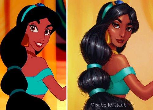 Иллюстратор изобразила диснеевских принцесс в более реалистичном образе (7 фото)