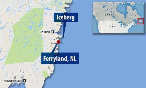 Гигантский айсберг, появившийся у канадского побережья, привлекает всё больше туристов в небольшую рыбацкую деревушку (6 фото + видео)