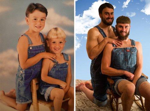 Из детства — в настоящее (23 фото)