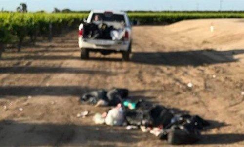 Заслуженное наказание за мусор, выброшенный в неположенном месте (2 фото)