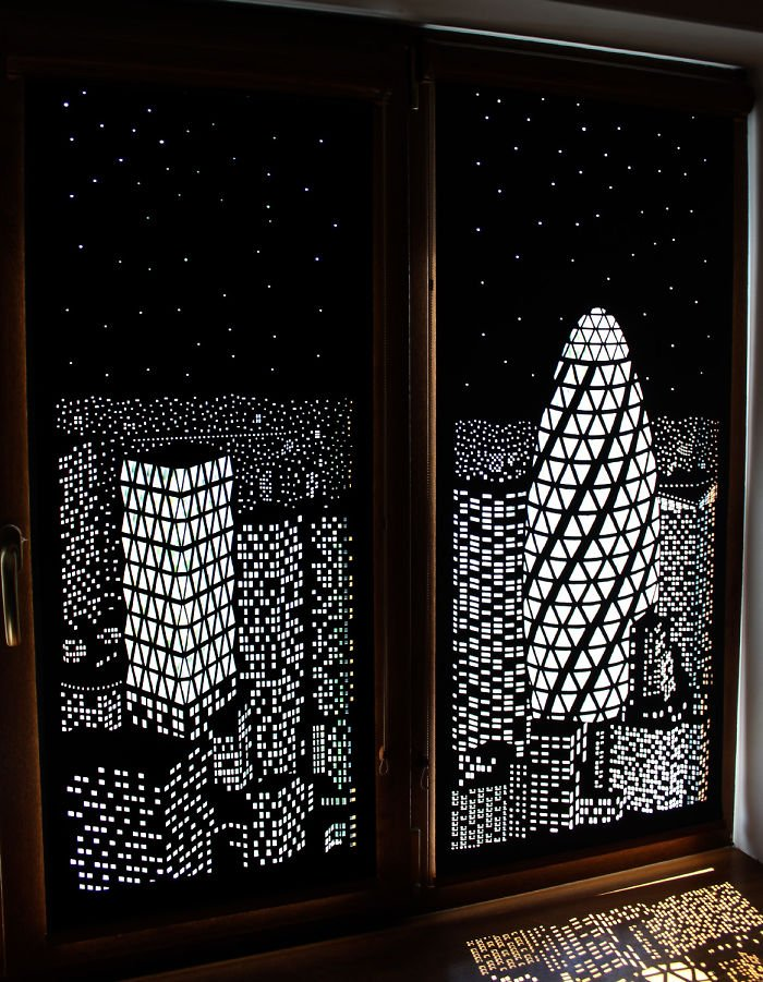 Рулонные шторы с перфорацией
