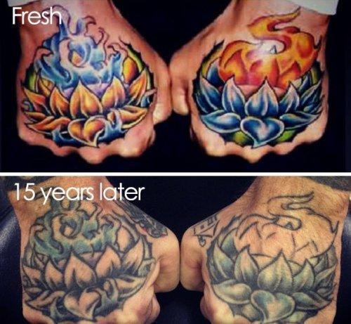 Как татуировки выглядят по прошествии времени (22 фото)